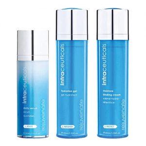 Intraceuticals daily serum 30 ml, Hydration gel 40 ml en 40 ml moisture binding